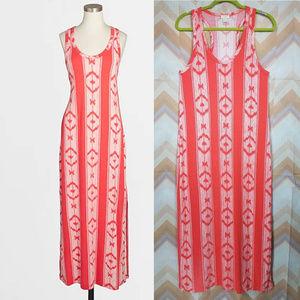 J.CREW Red white sleeveless knit racerback dress